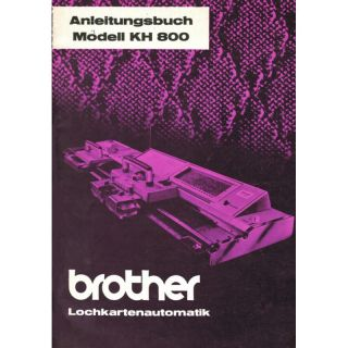 Anleitungsbuch Brother KH-800